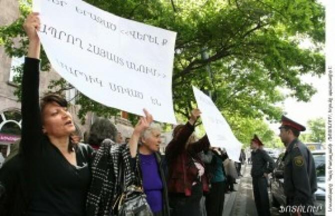 Բացօթյա առեւտուր. բողոքի ակցիա` նախագահականի մոտ