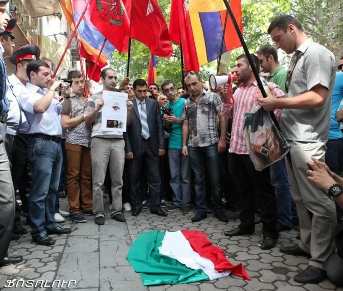 Բողոքի ցույց Հունգարիայի հյուպատոսարանի դիմաց
