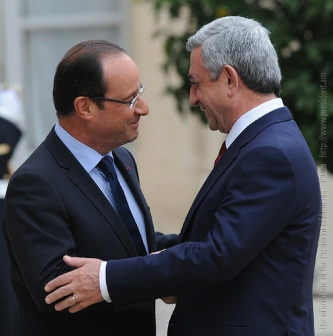Սերժ Սարգսյանի հայտարարությունը Ֆրանսիայի նախագահի հետ հանդիպման ժամանակ