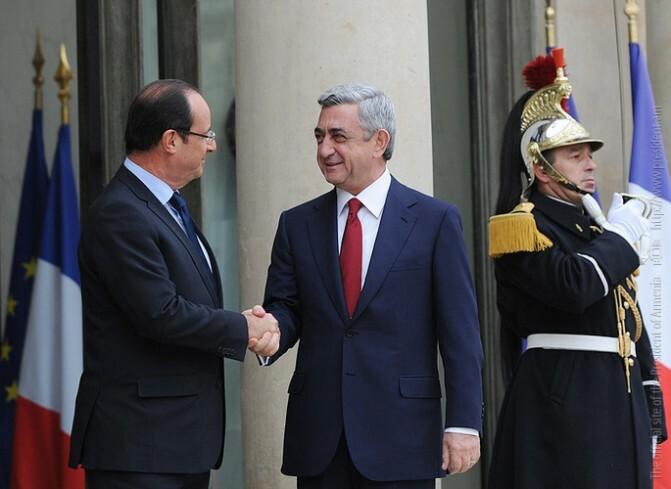 Ղարաբաղը, սիրահայերը, հայ-ֆրանսիական ջերմ հարաբերություններն ու ավելին.  Օլանդի ու Սարգսյանի հանդիպումը` Փարիզում