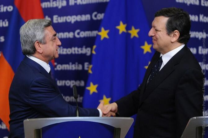 Սերժ Սարգսյանին շնորհավորել է Եվրոպական հանձնաժողովի նախագահ Ժոզե Մանուել Բարոզոն