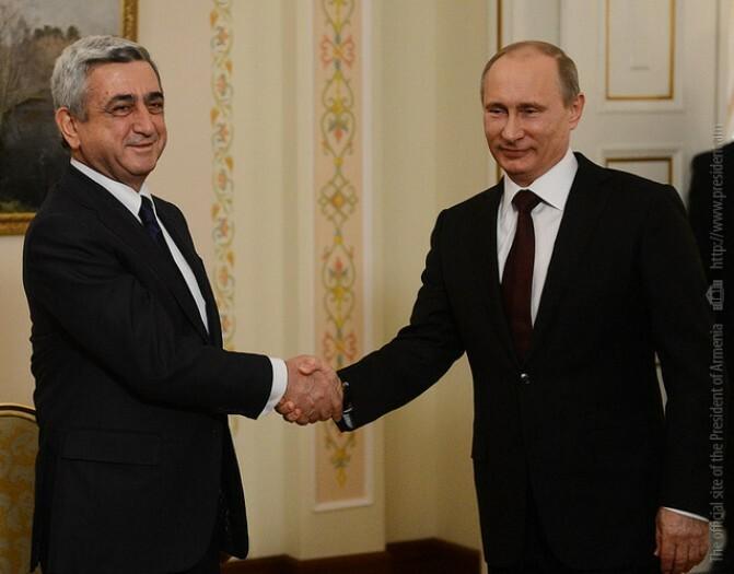 Սերժ Սարգսյանը Մոսկվայում հանդիպում է ունեցել ՌԴ նախագահ Վլադիմիր Պուտինի հետ