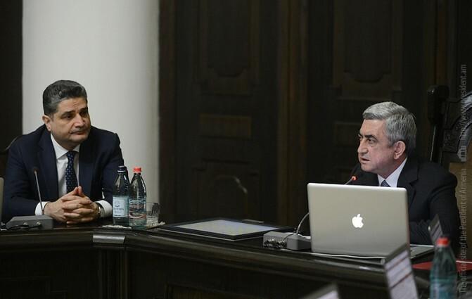 Սերժ Սարգսյանը հանդիպում է ունեցել նոր կառավարության անդամների հետ