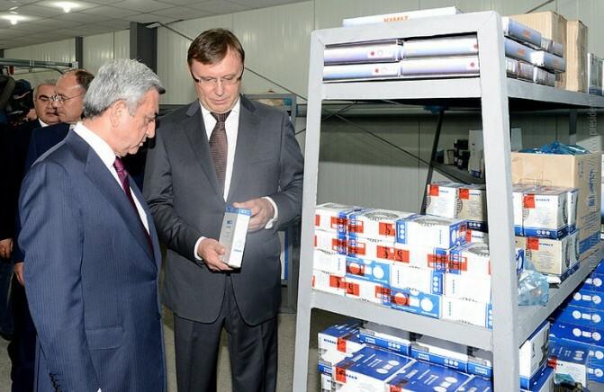 Սերժ Սարգսյանը ներկա է գտնվել «ԿԱՄԱԶ Արմենիա» կենտրոնի բացման արարողությանը