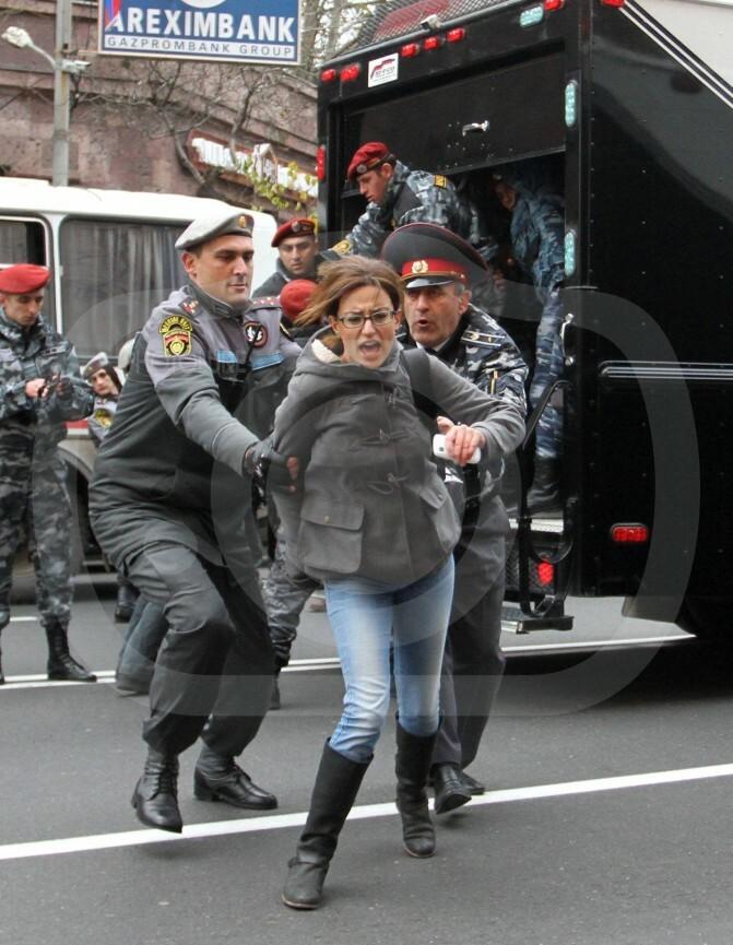 110 հոգի բերման է ենթարկվել ոստիկանություն