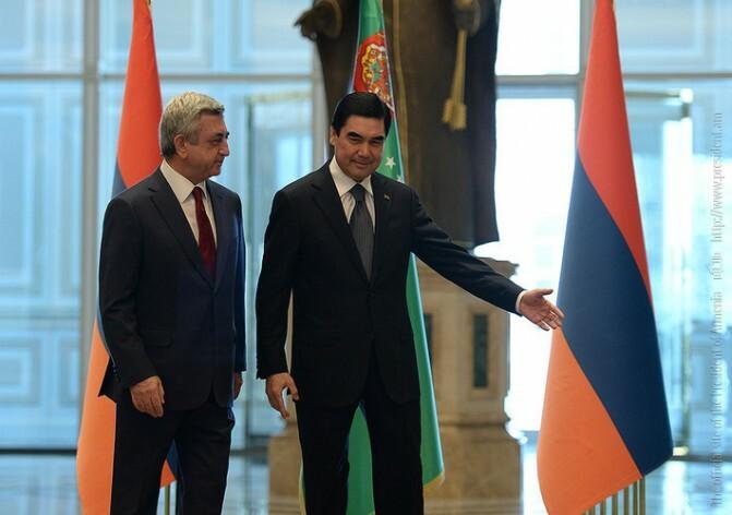 Սերժ Սարգսյանը` Թուրքմենստանից. «Մենք վստահ ենք, որ այդ հարաբերությունները կակտիվանան»