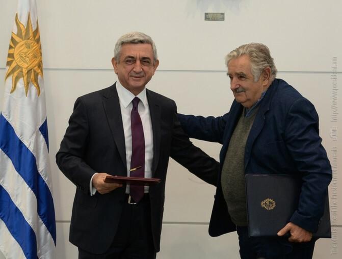 Սերժ Սարգսյանը հանդիպել է Ուրուգվայի ղեկավարության հետ
