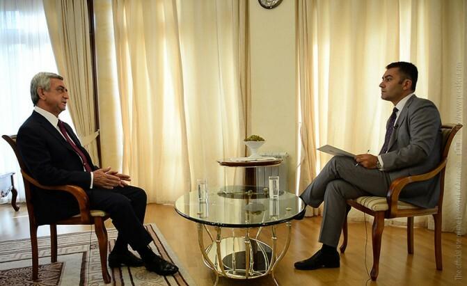 Սերժ Սարգսյանի հարցազրույցը «Արմնյուզ» հեռուստաընկերությանը