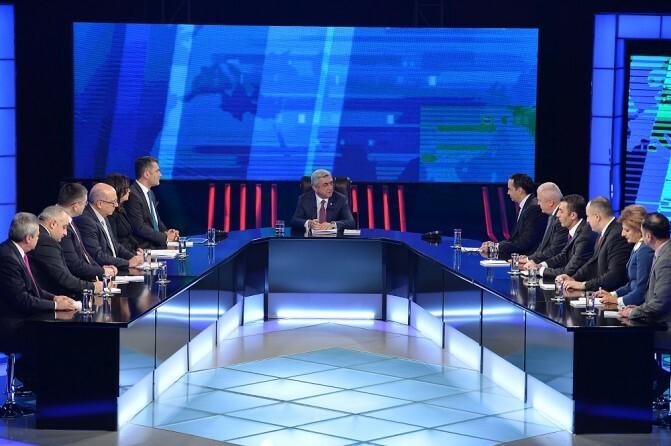 Սերժ Սարգսյանի հարցազրույցը հայաստանյան հեռուստաընկերությունների ներկայացուցիչների հետ