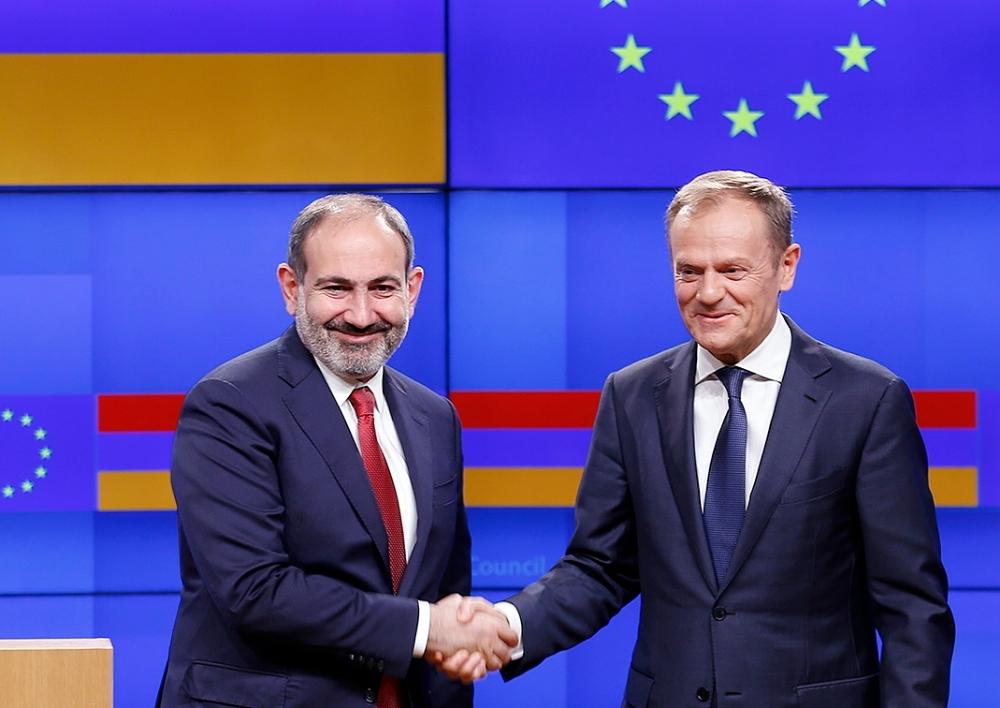 Հայաստանն ունի քաղաքական կամք խորացնելու Եվրամիության հետ փոխգործակցությունը. Փաշինյանը և  Տուսկը հանդես են հայտարարությամբ․ տեսանյութ