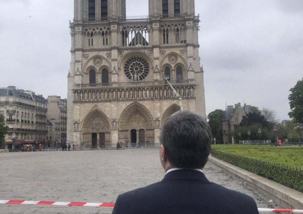 ԱԳ նախարար Մնացականյանն այցելեց Փարիզի Աստվածամոր տաճար. Տեսանյութ