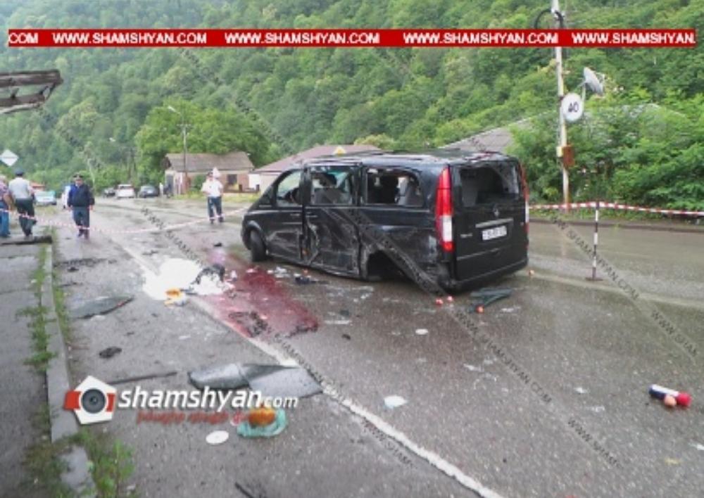 Ողբերգական ավտովթար Տավուշի մարզում․ Դիլիջանում բախվել են Mercedes-ն ու Opel-ը. կա 1 զոհ, 6 վիրավոր․ Shamshyan.com