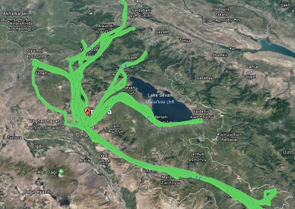 Արսեն Թորոսյանն ամփոփել է սանիտարական ավիացիայի 4 ամսվա աշխատանքը՝ քարտեզով