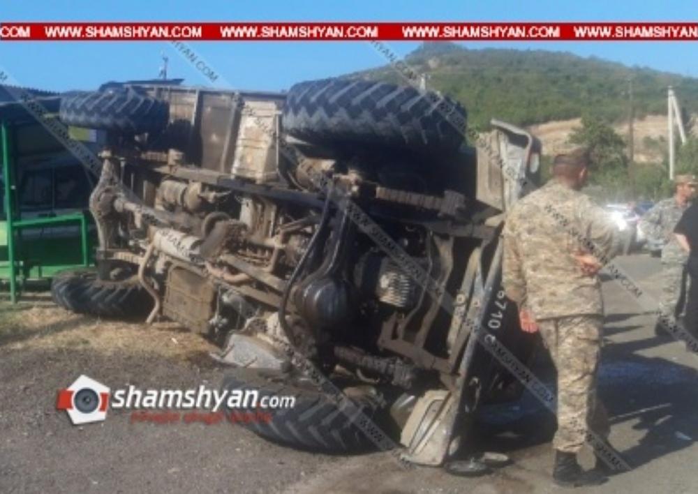 Խոշոր ավտովթար Տավուշի մարզում. ՊՆ N զորամասի մոտ ГАЗ 66-ը կողաշրջվել է. բոլոր 11 վիրավորները պայմանագրային զինծառայողներ են