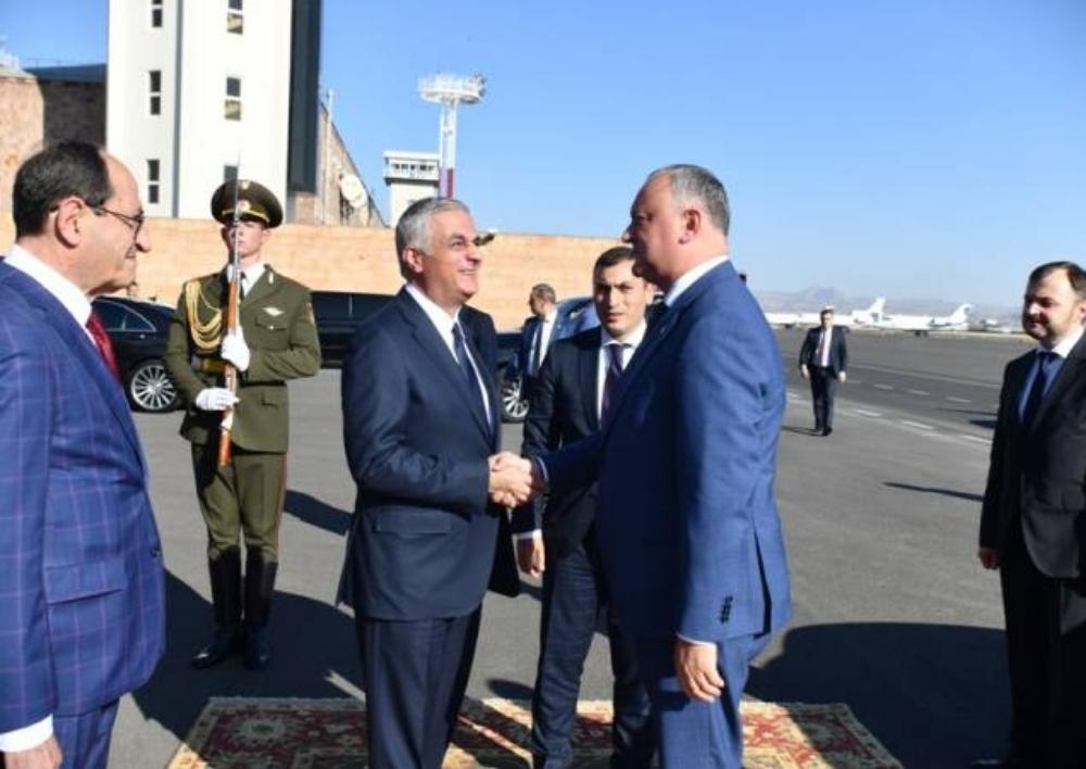 Հայաստան ժամանեց Մոլդովայի նախագահ Իգոր Դոդոնը
