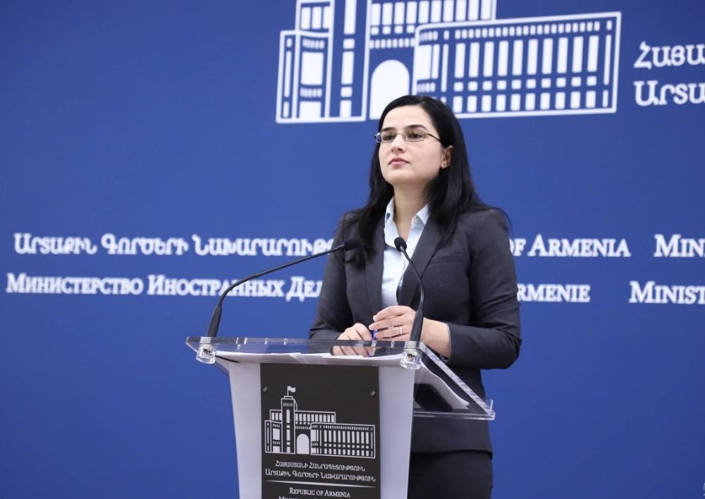 Հայաստանը եղել և մնում է աջակից ԵԱՀԿ Մինսկի խմբի համանախագահության ձևաչափին. ԱԳՆ խոսնակ