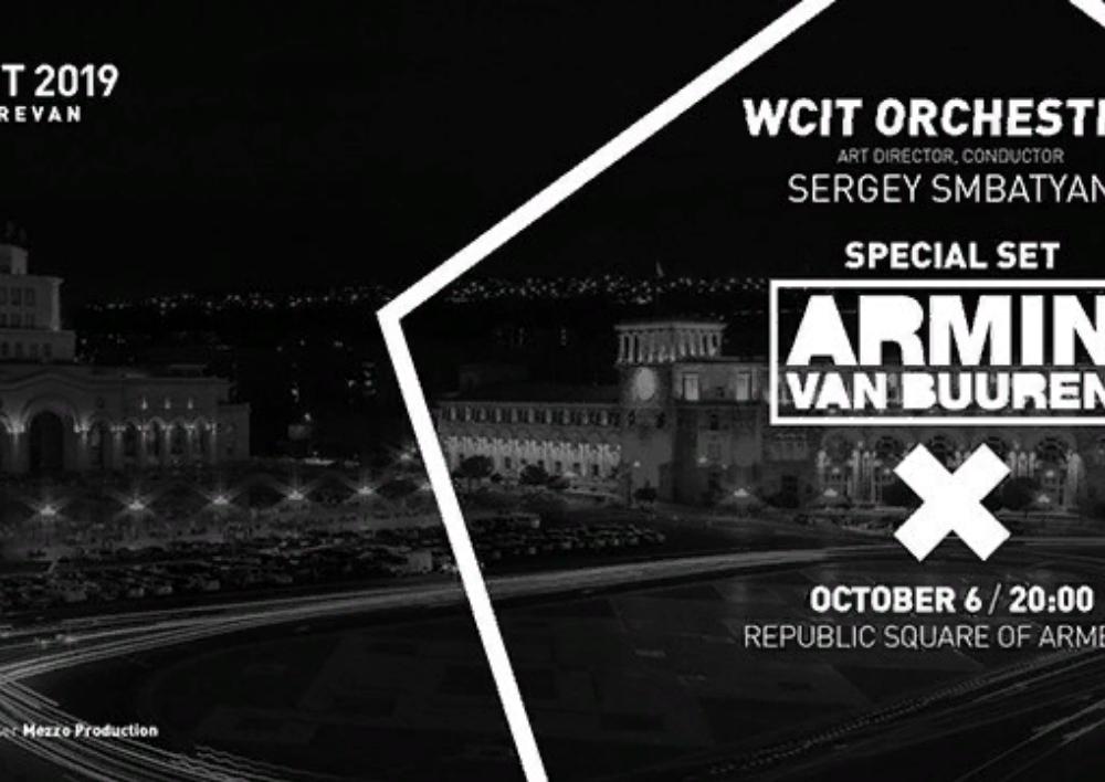 WCIT 2019-ի բացման համերգը Հանրապետության հրապարակում՝ Արմին վան Բյուրենի մասնակցությամբ. Ուղիղ