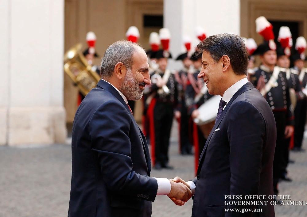Հռոմում կայացել են Հայաստանի և Իտալիայի վարչապետների բարձր մակարդակի բանակցությունները. քննարկվել է երկկողմ և բազմակողմ օրակարգի հարցերի լայն շրջանակ
