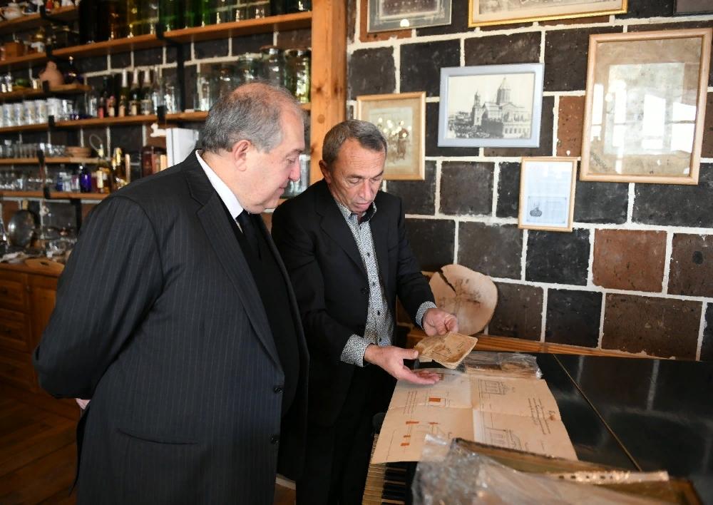 Նախագահ Արմեն Սարգսյանը Գյումրիում այցելել է «Շալե Գյումրի» կենտրոն․ Տեսանյութ