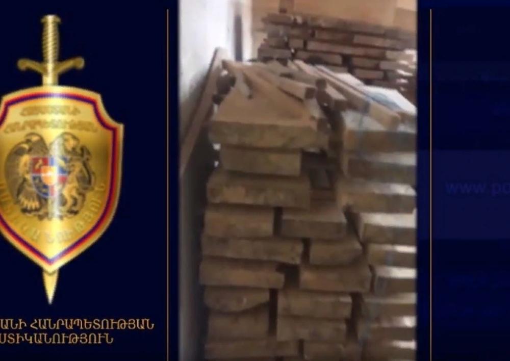 Ոստիկանները հայտնաբերել են մեծաքանակ ապօրինի հատված ծառեր․ Տեսանյութ