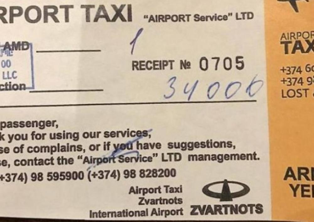 Զբոսաշրջիկից 34 հազար դրամ վերցրած տաքու վարորդը ոստիկաններին բացատրություն է տվել