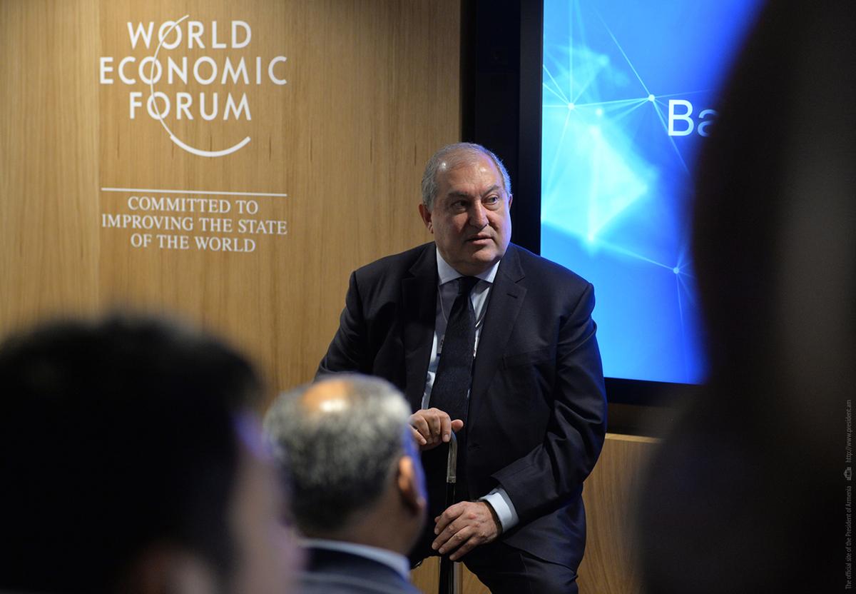Այս աշխարհը չի լինելու գործարանների երկիր, այն երիտասարդների աշխարհ է լինելու․ նախագահ Արմեն Սարգսյանը Դավոսի համաժողովում